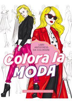 Libri antistress da colorare. Colora la moda