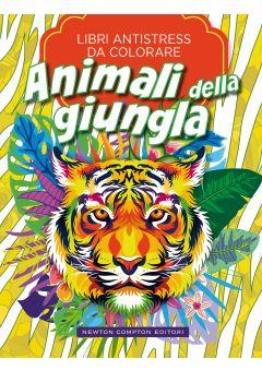Libri antistress da colorare. Animali della giungla